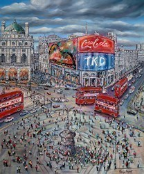 Piccadilly Rush II by Phillip Bissell -  sized 47x39 inches. Available from Whitewall Galleries